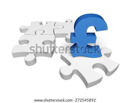 Finance. 3D. The missing piece is finance - stock photo