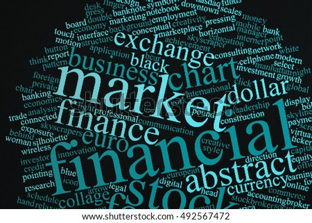 Finance data concept or conceptual abstract word cloud: All of Word cloud is related with Financial strategy and Financial planning.