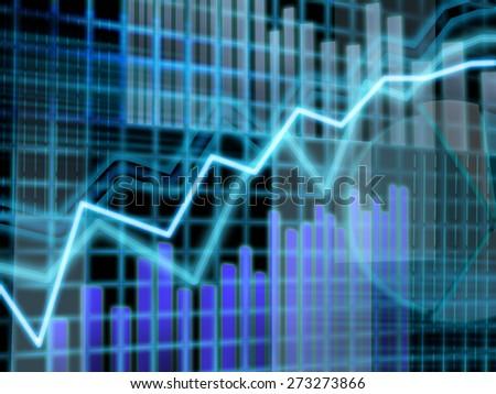 Finance data graph concept background  - stock photo