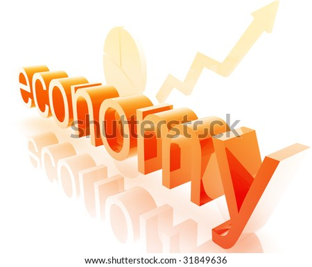 Finance economy trend concept illustration improving upwards