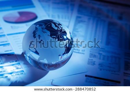Finance, Global Business, Global Communications. - stock photo
