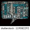 Finance info-colorful text graphic and arrangement concept on black background (word cloud) - stock photo