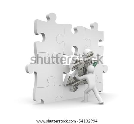 Finance metaphor - stock photo