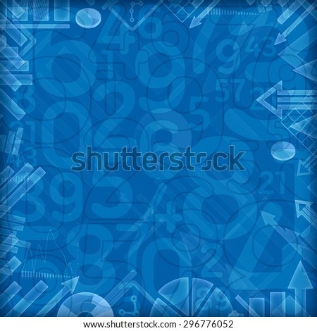 finance numbers background illustration - stock photo