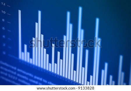 Finance report on the monitor - stock photo
