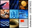 Finance system collage. - stock photo