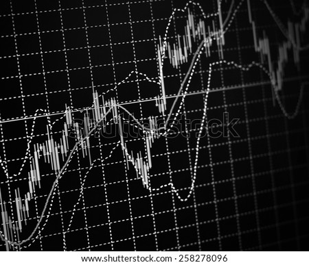 Finance trade data analysis. Computer screen live display. Online live finance business. Stock market quotes. Ticker board blue. Business data shown on computer screen. Stock market. Ticker board. - stock photo