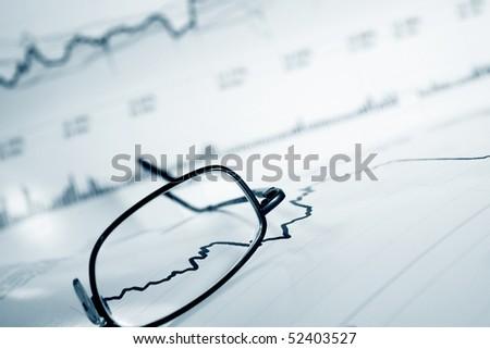 Financial abstract. - stock photo