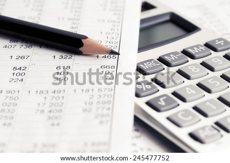 Financial accounting - stock photo