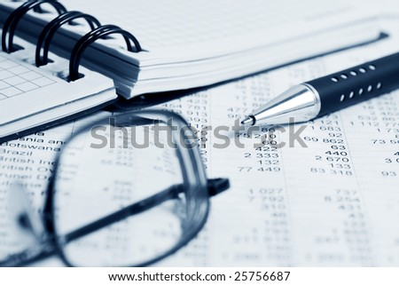 Financial accounting. - stock photo