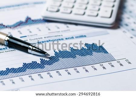 financial accounting analysis - stock photo