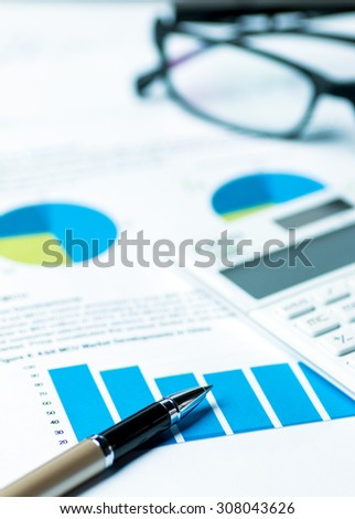 financial accounting analysis concept - stock photo