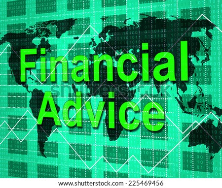 Financial Advice Representing Info Earnings And Help - stock photo