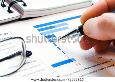 Financial analysis - stock photo