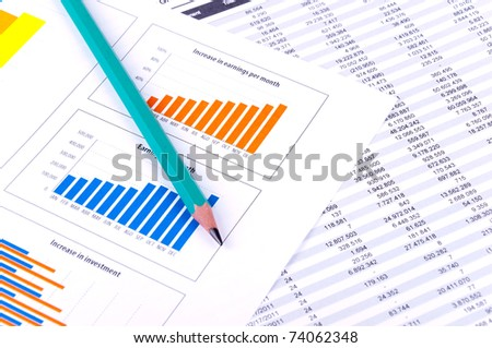 Financial Analysis with graphs and data of industrial growth.