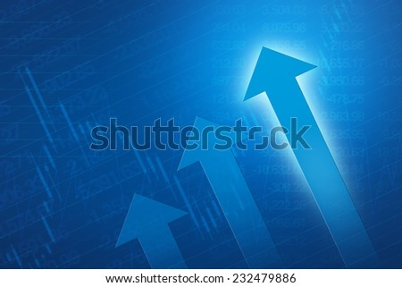 Financial and business chart and graphs - stock photo