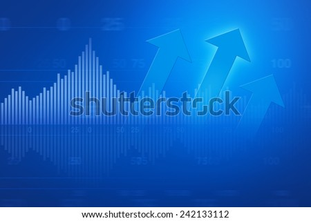 Financial and business chart and graphs for business background - stock photo