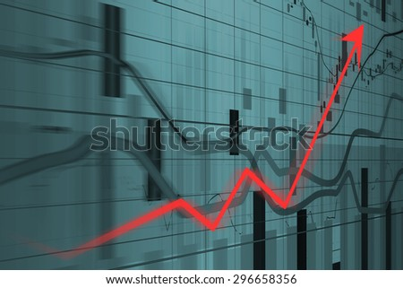 Financial and business graphs, Finance concept   - stock photo