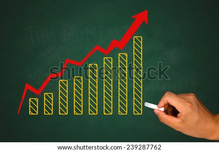 financial and marketing graph concept