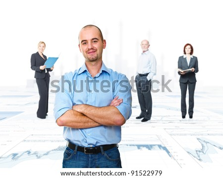 financial background and business people - stock photo