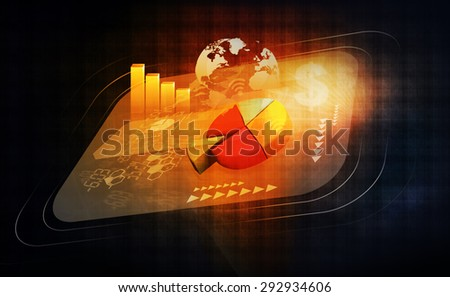 Financial  background of global economy  - stock photo