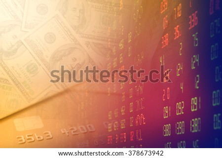 Financial background with Dollar and investment. - stock photo