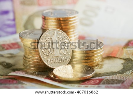 Financial background with ukrainian money