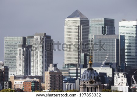 Financial Center of London, England, Europe - stock photo