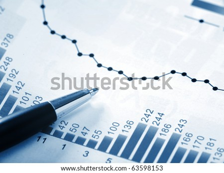 financial chart - stock photo