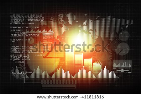 Financial chart and graphs background. stock market anylis 	 - stock photo