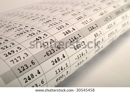 financial chart  on a newspaper page. bank rates - stock photo