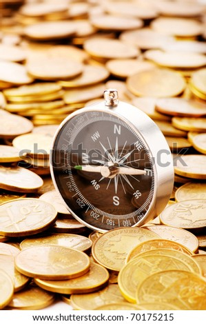 Financial concept - navigating in difficult times for markets - stock photo