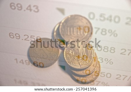 Financial concept. Quotations as background. - stock photo