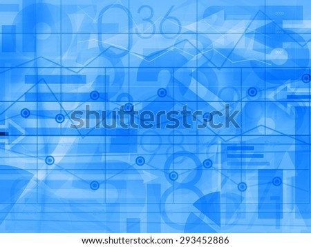 financial corporate business blue light background illustration - stock photo