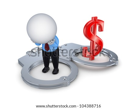 Financial crime concept.Isolated on white background.3d rendered. - stock photo