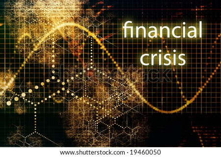 Financial Crisis Business Concept Wallpaper Presentation Background