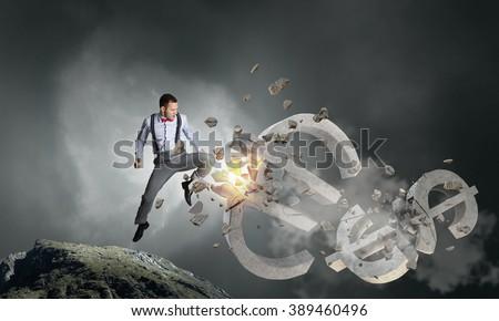 Financial crisis concept - stock photo