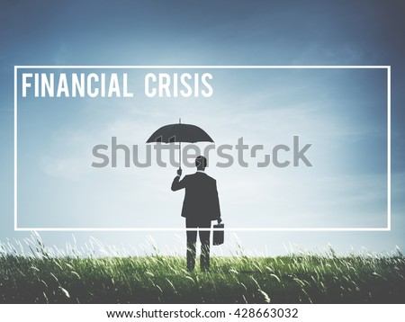 Financial Crisis Debt Depression Failure Concept - stock photo