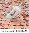 Financial crisis help - stock photo