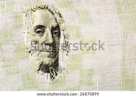 Financial crisis: hole is in budget - stock photo