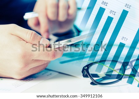 Financial data analysis - stock photo
