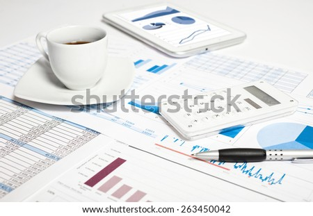 Financial data analysis concept - stock photo