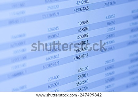 Financial data on a monitor - stock photo