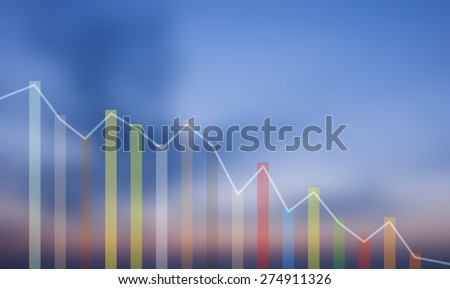 financial decline chart  - stock photo