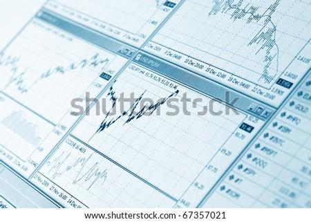 Financial diagram - stock photo