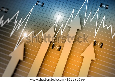 Financial direction as business concept - stock photo