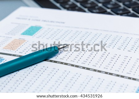 financial graph and chart