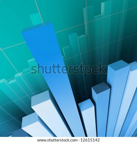 financial graph background - stock photo