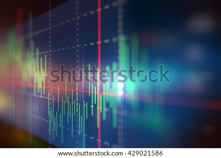 financial graph on technology abstract background represent financial crisis,financial meltdown - stock photo