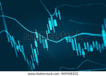 Financial graph on technology abstract background represent financial crisis,financial meltdown.